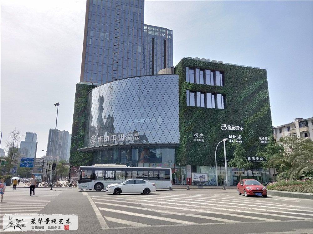 成都大型商场室外防抗紫外线植物墙 (2)