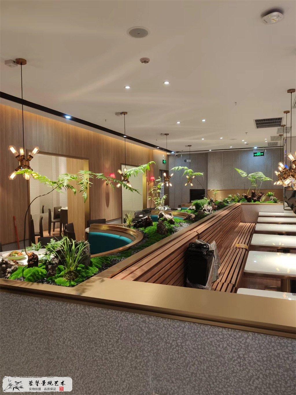 成都仿真植物餐厅装饰案例,愉悦川菜 (3)