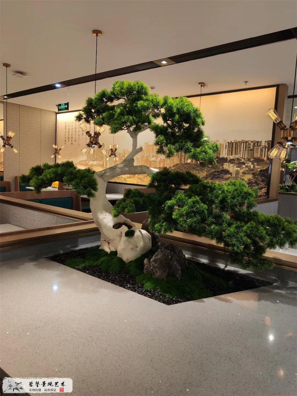 成都仿真植物餐厅装饰案例,愉悦川菜 (2)