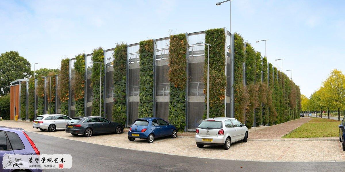 商业园外墙植物墙