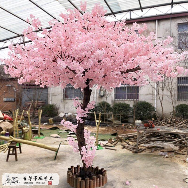 粉色仿真桃花树